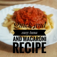 Quick and easy tuna and macaroni recipe