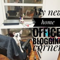 My new home office- blogging corner