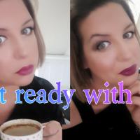 Coffee and makeup-mom makeup routine