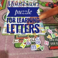 Montessori puzzle for learning letters