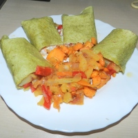 Cook with me- quick and easy veggie tortilla and sweet potatoes