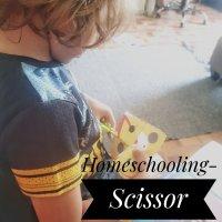 Homeschooling- Scissor Practice
