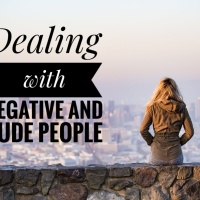 Dealing with negative and rude people